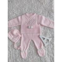 conjunto polaina rosa bebe 520 baby