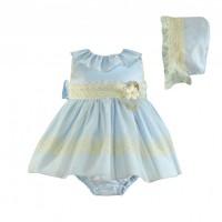 Vestido braguita y gorro bebé 0145 MIRANDA