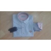 camisa rayas celestes SPAGNOLO popelin básica 4068