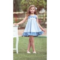 Vestido azul con celeste tirantas 1921841 NEKENIA