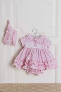 vestido con braguita lunares rosa DOLCE  PETIT  2000