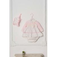 Vestido braguita y capota bebé. DOLCE PETIT. 2012 VBG