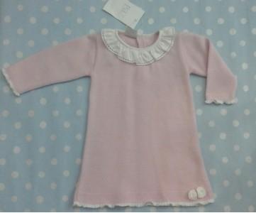 vestido bebe rosa punto PAZ RODRIGUEZ