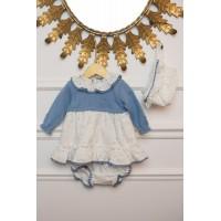 Vestido y braguita bebé 2027 DOLCE PETIT