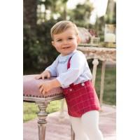 Blusa manga larga y pantalón corto bebé niño. DOLCE PETIT. 2109