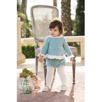 Sudadera y pantalon corto bebé niña. DOLCE PETIT 2114