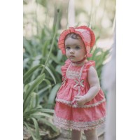 Vestido con braguita  bebe coral DOLCE PETIT 2120