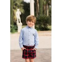 Conjunto camisa manga larga y pantalón corto 2201-23