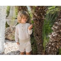 Conjunto camisa y pantalón corto infantil niño 2206 DOLCE PETIT
