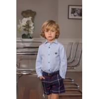 Conjunto camisa m/l y pantalón corto niño 2213 DOLCE PETIT