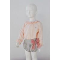 Conjunto blusa y pantalón corto infantil niña 2216 DOLCE PETIT