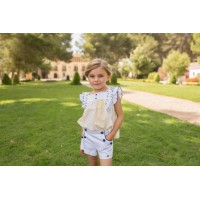 Conjunto Blusa infantil niña y pantalón corto 2223 DOLCE PETIT