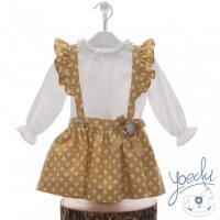Conjunto falda niña fabulas YOEDU 2231 Caramelo