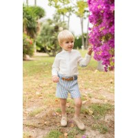 Conjunto camisa manga larga y pantalón corto niño 2243 DOLCE PETIT