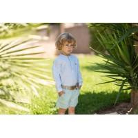 Camisa manga larga y pantalón corto infantil niño 2248 DOLCE PETIT