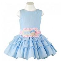 Vestido infantil niña azul MIRANDA 0265V