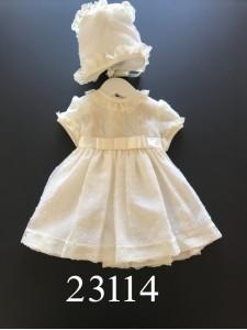 Vestido plumeti lazo central 23114 LILUS