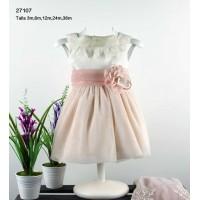 Vestido bebe gasa rosa LILUS 27107