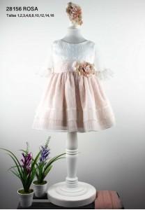 Vestido ceremonia PLUMETI  rosa LILUS 28156