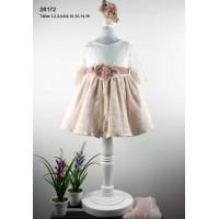 vestido ceremonia crudo y rosa palo LILUS 28172
