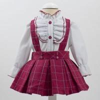 Conjunto camisa + falda de peto cereza 4965 LOANBOR