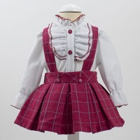 Conjunto camisa + peto cereza 4965 LOANBOR