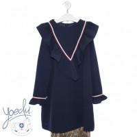 Vestido infantil dickens YOEDU 5160 azul