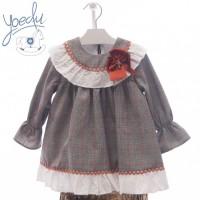 Vestido infantil beatrix YOEDU 5175  Gris
