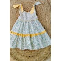 Vestido estapado con amarillo 5503 ANA CASTEL