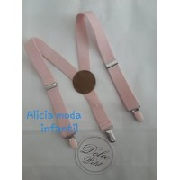 Tirantes  elasticos niño DOLCE PETIT rosa palo 2100T