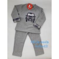 Chandal kiz gris coche de cuadros CHM24