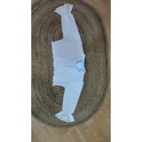 chaqueta hilo algodón blanca manga francesa 695 granlei