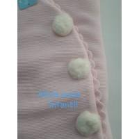 saco bebe pompones rosa 1091