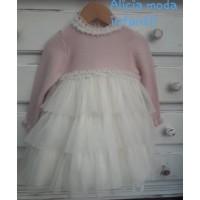 vestido tul y rosa GRANLEI 1296