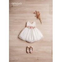 Vestido ceremonia crudo AMAYA 111201