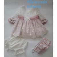 Vestido braguita y capota bebé 2100 DOLCE PETIT