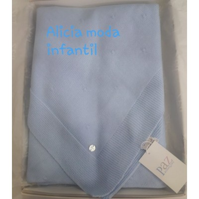 toquilla -chal PAZ RODRIGUEZ  azul tiza 10981