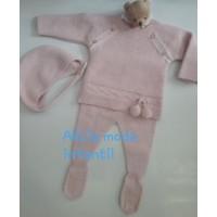 Conjunto polaina con capota rosa empolvado BABIDIF 891422