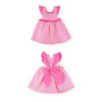 Vestido niña rosa cuadros espalda cruzada AB75 SARDON
