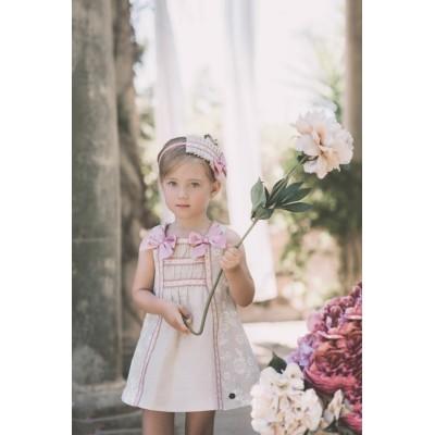 Vestido niña beig y rosa DOLCE PETIT 2200