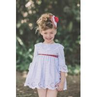 Vestido niña celeste DOLCE PETIT 2216V