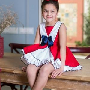Vestido marinero rojo NINI  VR085