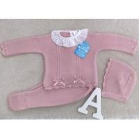 Conjunto hilo  polaina 3 piezas rosa palo 907 baby