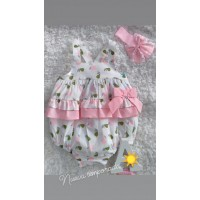 Ranita bebe rosa volantes 21ab 80. SARDON