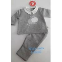Chandal cuello bebé hipo gris CHB10 KIZ-KIZ