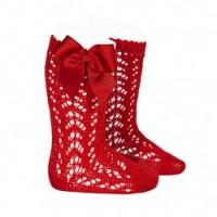 calcetin alto calado con lazo rojo CONDOR 2519