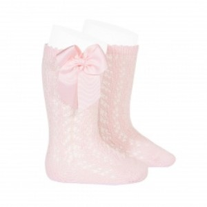 Calcetin alto calado lazo CONDOR 2519/2 color rosa claro