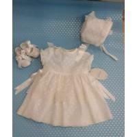 vestido bautizo con capota beig LILUS 23125