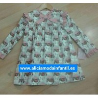 Vestido infantil frida YOEDU 5155 Rosa Empolvado