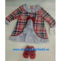 Vestido bebe MARTA y PAULA 5109 machado